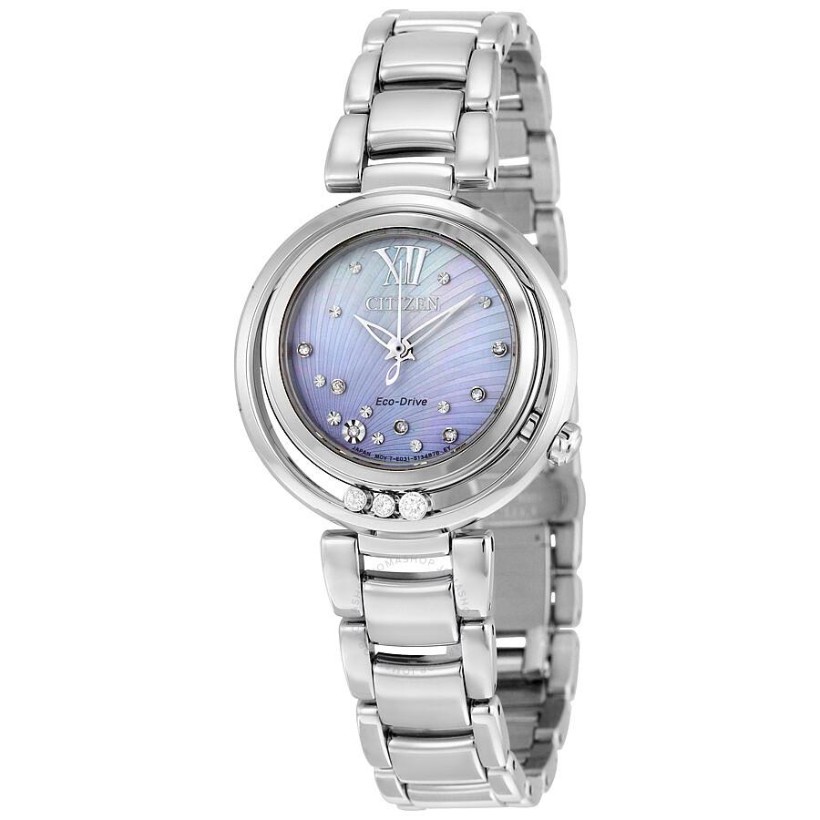 Citizen Sunrise Eco-Drive Diamond Dial Ladies Watch EM0320-59D - Eco ... 4141e286f