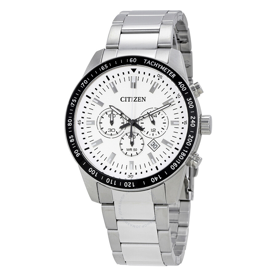 8eefcb815 Citizen White Dial Men's Chronograph Watch AN8071-51A - Citizen ...