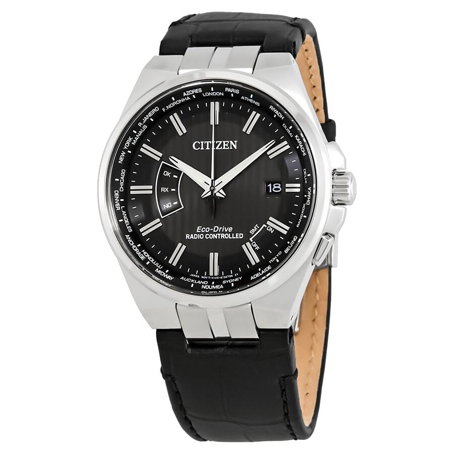 5435bc963d4 Citizen World Time A-T Perpetual Black Dial Men s Watch CB0160-00E ...