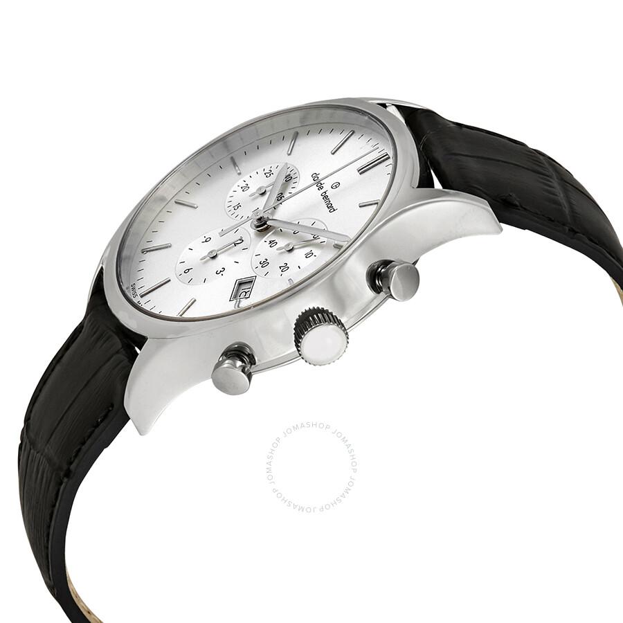 a4bcf75bf ... Claude Bernard Classic Chronograph Silver Dial Men's Watch 10218 3 AIN  ...