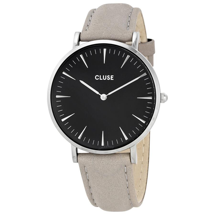 cluse la boheme black dial grey leather ladies watch cl18218 cluse watches jomashop. Black Bedroom Furniture Sets. Home Design Ideas
