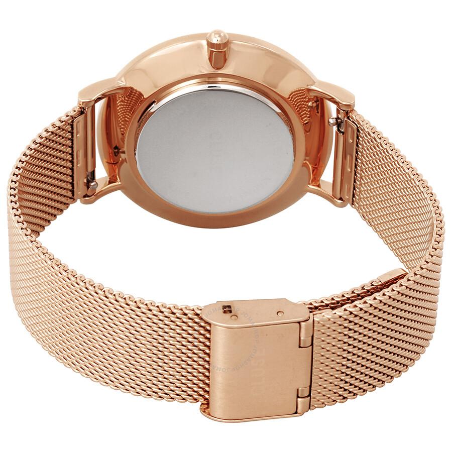 3132a5c0c3e Cluse La Boheme Black Dial Ladies Rose Gold Tone Mesh Watch CL18113 ...