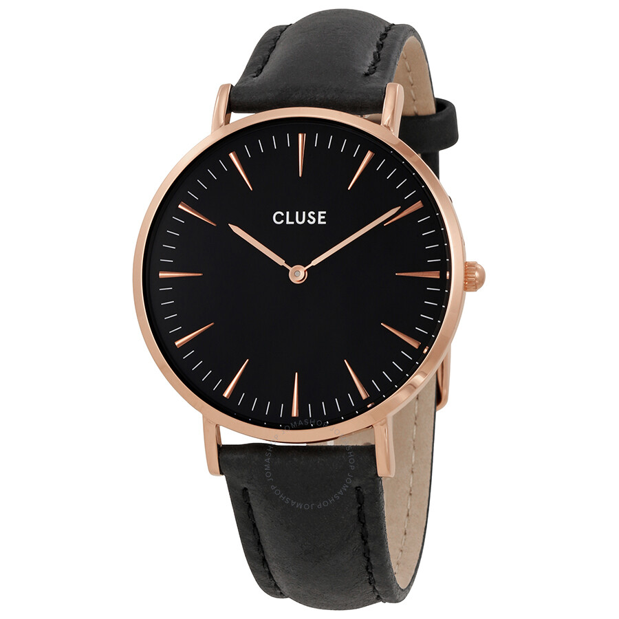 cluse la boheme black dial ladies watch cl18001 cluse. Black Bedroom Furniture Sets. Home Design Ideas