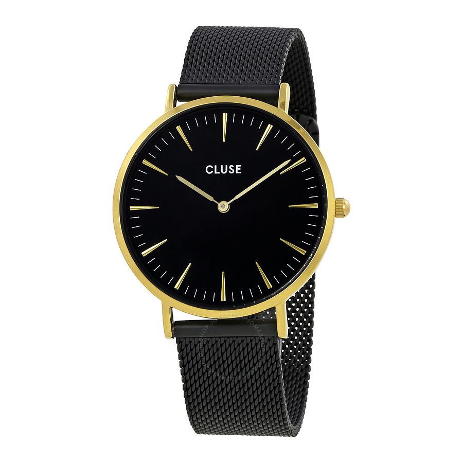 cluse la boheme black dial ladies watch cl18117 cluse watches jomashop. Black Bedroom Furniture Sets. Home Design Ideas