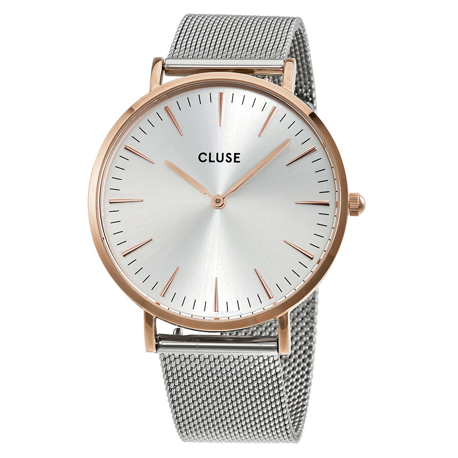 cluse la boheme silver dial ladies mesh watch cl18116 cluse watches jomashop. Black Bedroom Furniture Sets. Home Design Ideas