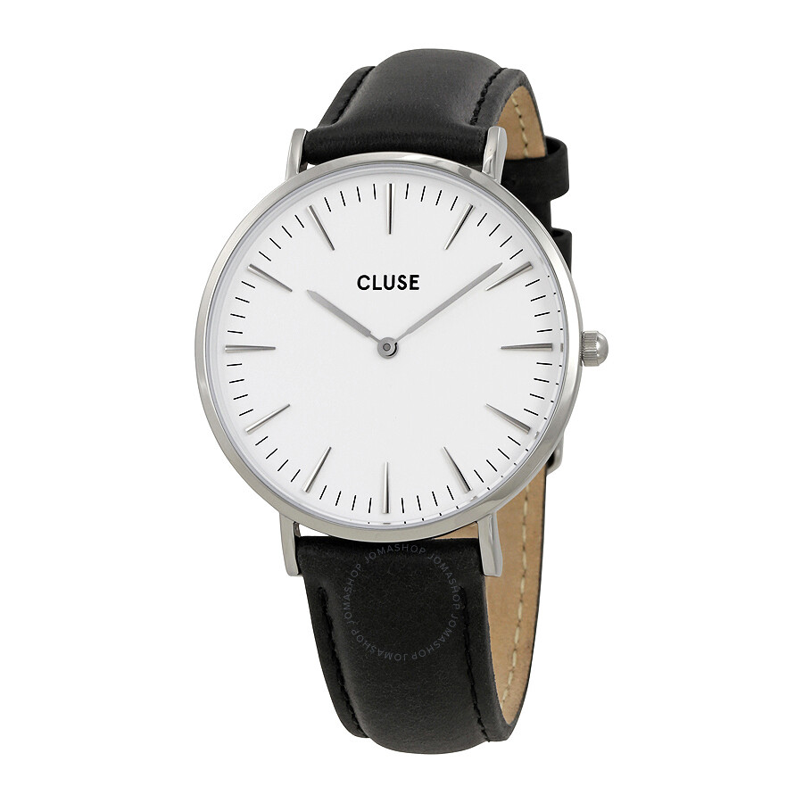 cluse la boheme white dial ladies leather watch cl18208 cluse watches jomashop. Black Bedroom Furniture Sets. Home Design Ideas