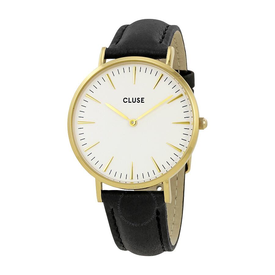 cluse la boheme white dial ladies leather watch cl18406 cluse watches jomashop. Black Bedroom Furniture Sets. Home Design Ideas