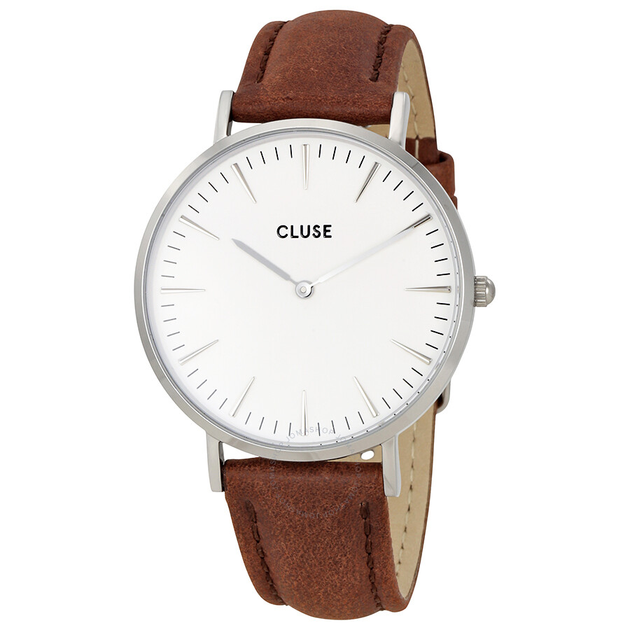 cluse la boheme white dial brown leather ladies watch cl18210 cluse watches jomashop. Black Bedroom Furniture Sets. Home Design Ideas