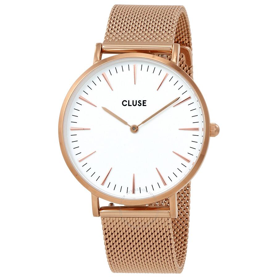 cluse la boheme white dial ladies rose gold tone watch cl18112 cluse watches jomashop. Black Bedroom Furniture Sets. Home Design Ideas