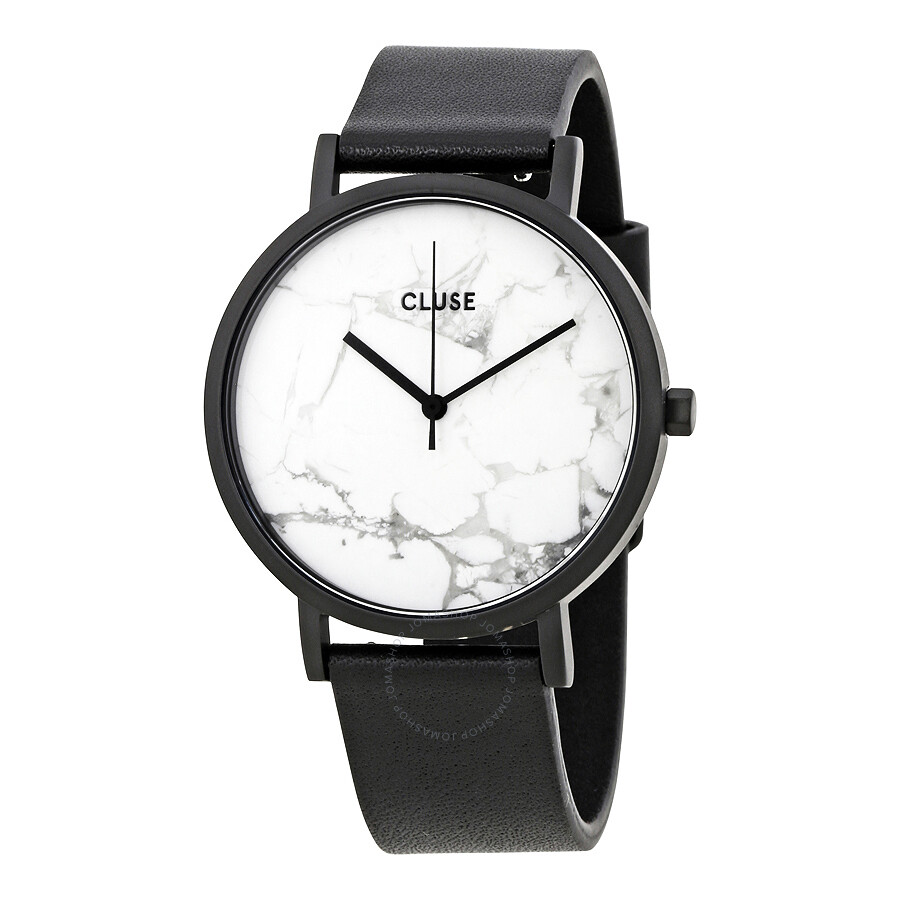 cluse la roche white marble dial ladies watch cl40002 cluse watches jomashop. Black Bedroom Furniture Sets. Home Design Ideas