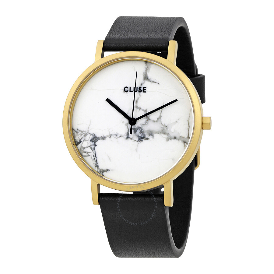 cluse la roche white marble dial ladies casual watch cl40003 cluse watches jomashop. Black Bedroom Furniture Sets. Home Design Ideas