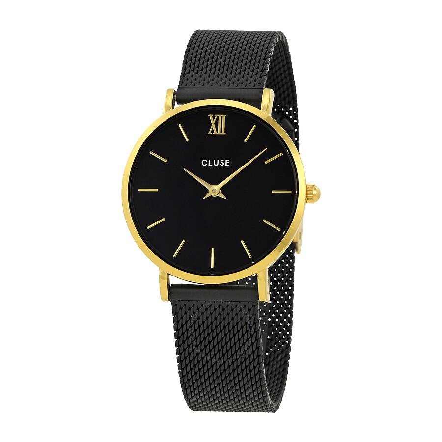 cluse minuit black dial ladies mesh watch cl30026 cluse watches jomashop. Black Bedroom Furniture Sets. Home Design Ideas