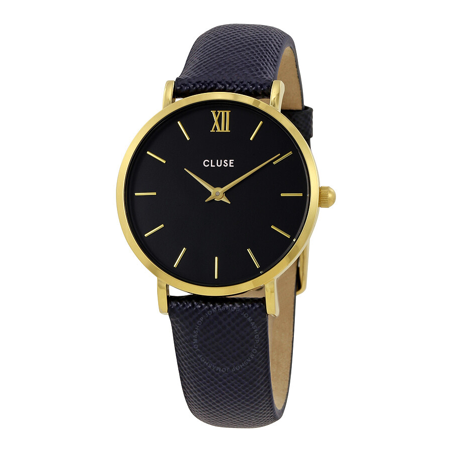 cluse minuit midnight blue dial ladies leather watch cl30014 cluse watches jomashop. Black Bedroom Furniture Sets. Home Design Ideas