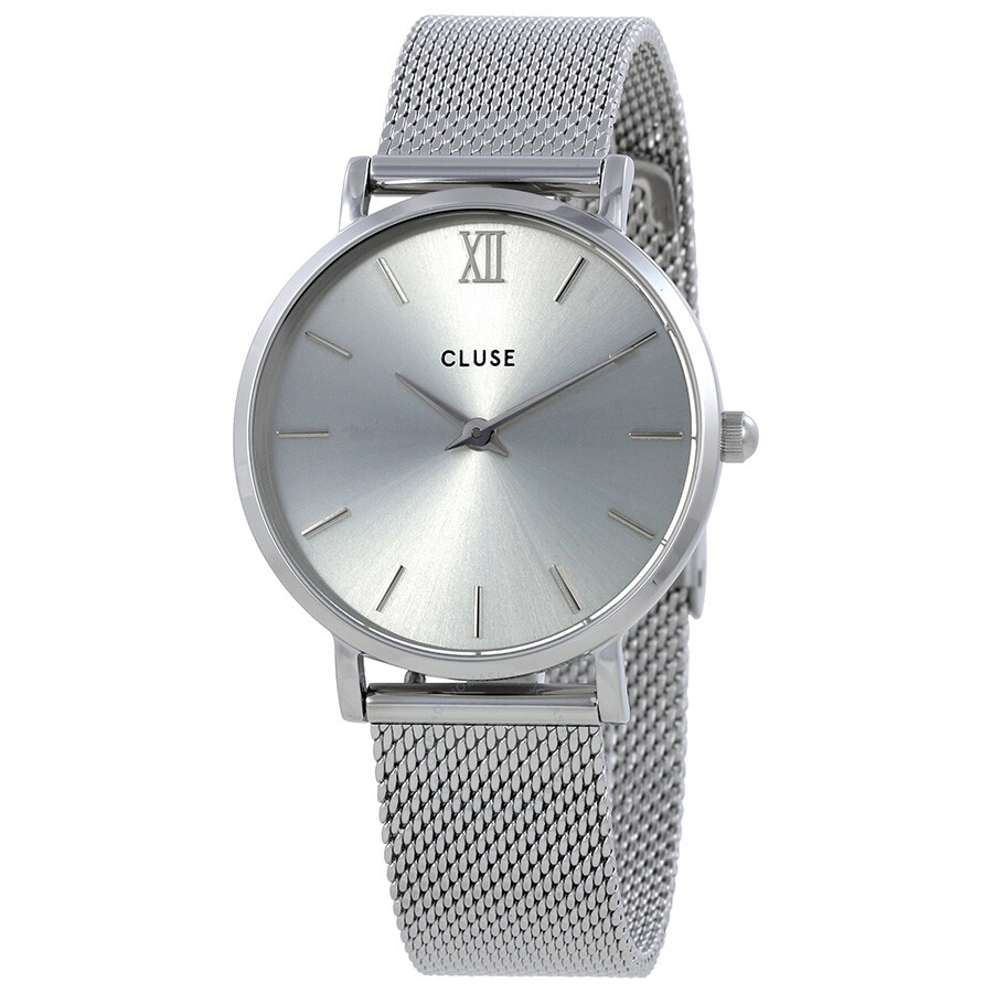 cluse minuit silver dial stainless steel mesh ladies watch cl30023 cluse watches jomashop. Black Bedroom Furniture Sets. Home Design Ideas