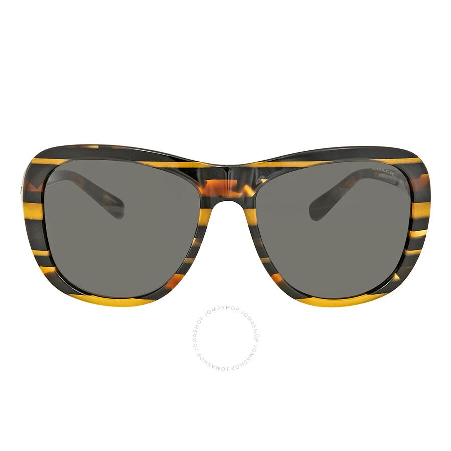 720d9d4a0420 Coach Black Amber Stripe Sunglasses Coach Black Amber Stripe Sunglasses ...