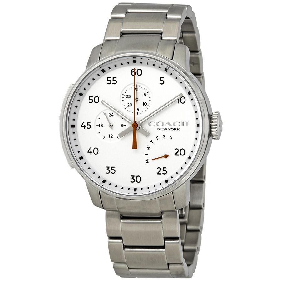 671f80e7ce Coach Bleecker Silver Dial Men's Watch 14602358