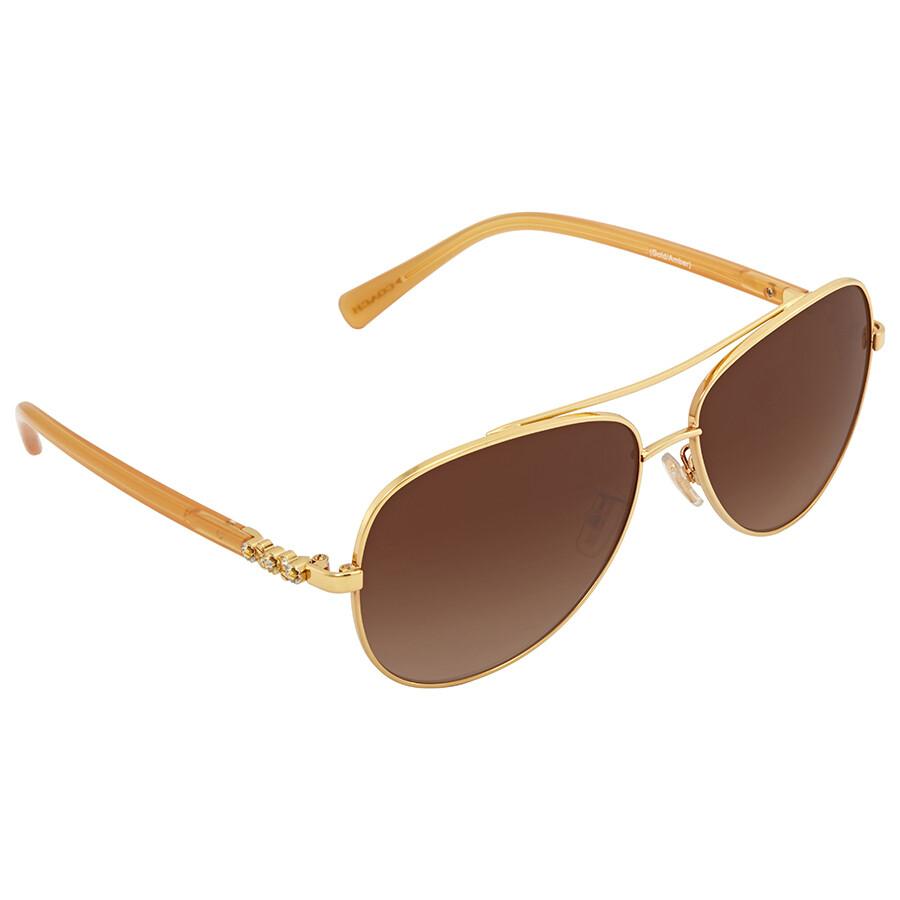 d02e27cc7b9c6 Coach Brown Gradient Aviator Sunglasses - Coach - Sunglasses - Jomashop