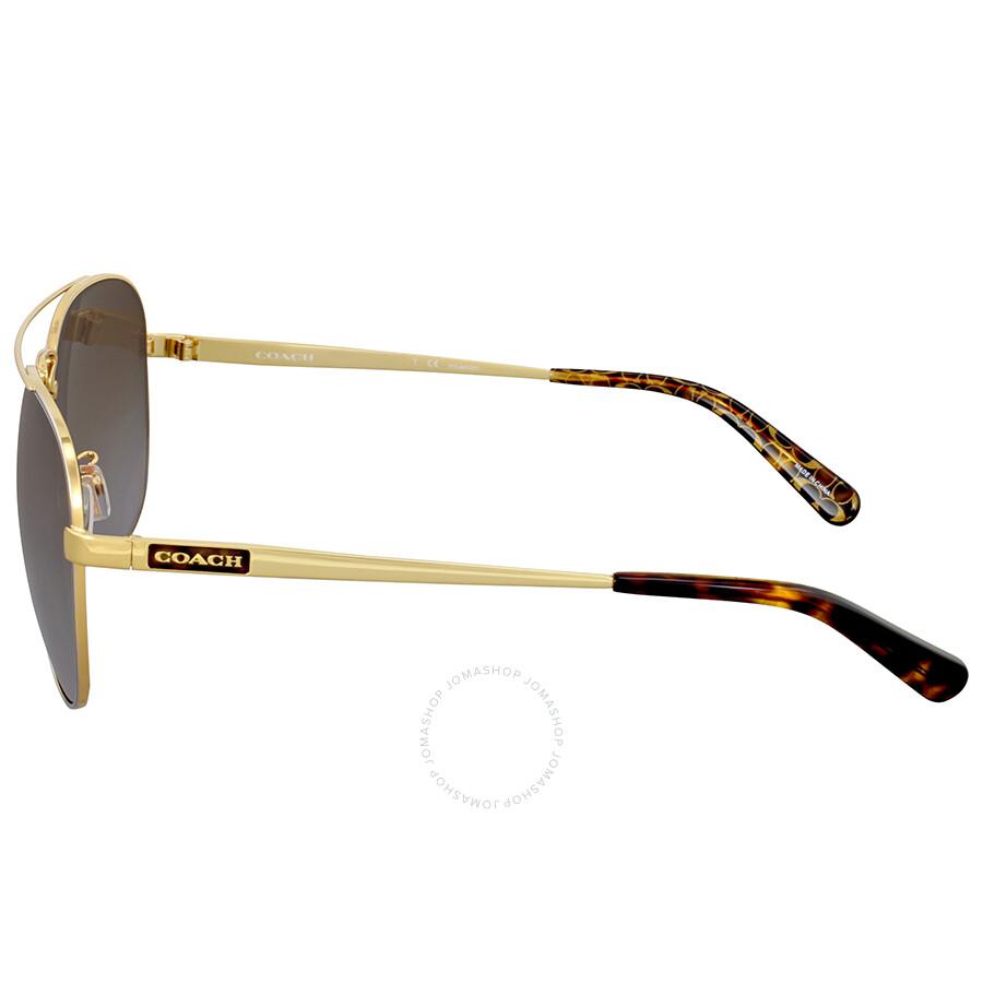 640d6af96 Coach Brown Gradient Polarized Aviator Sunglasses - Coach ...