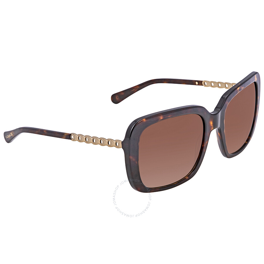 98e04c6abe Coach Brown Gradient Square Ladies Sunglasses 0HC8237 548574 57 ...