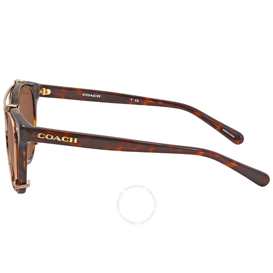 5bb334ae86904 ... closeout coach brown gradient square sunglasses hc8216 512013 51 6a2bf  cf75e