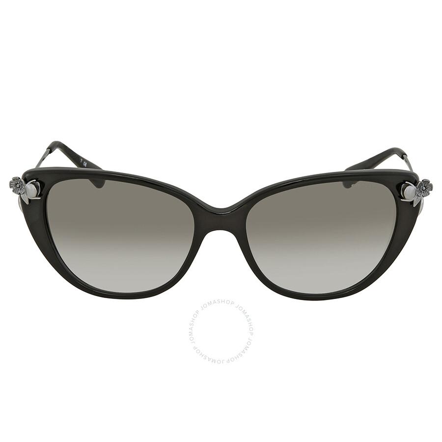 2ac4f456cfc69 ... Coach Clear Green Gradient Cat Eye Ladies Sunglasses HC8242B 50028E 55  ...