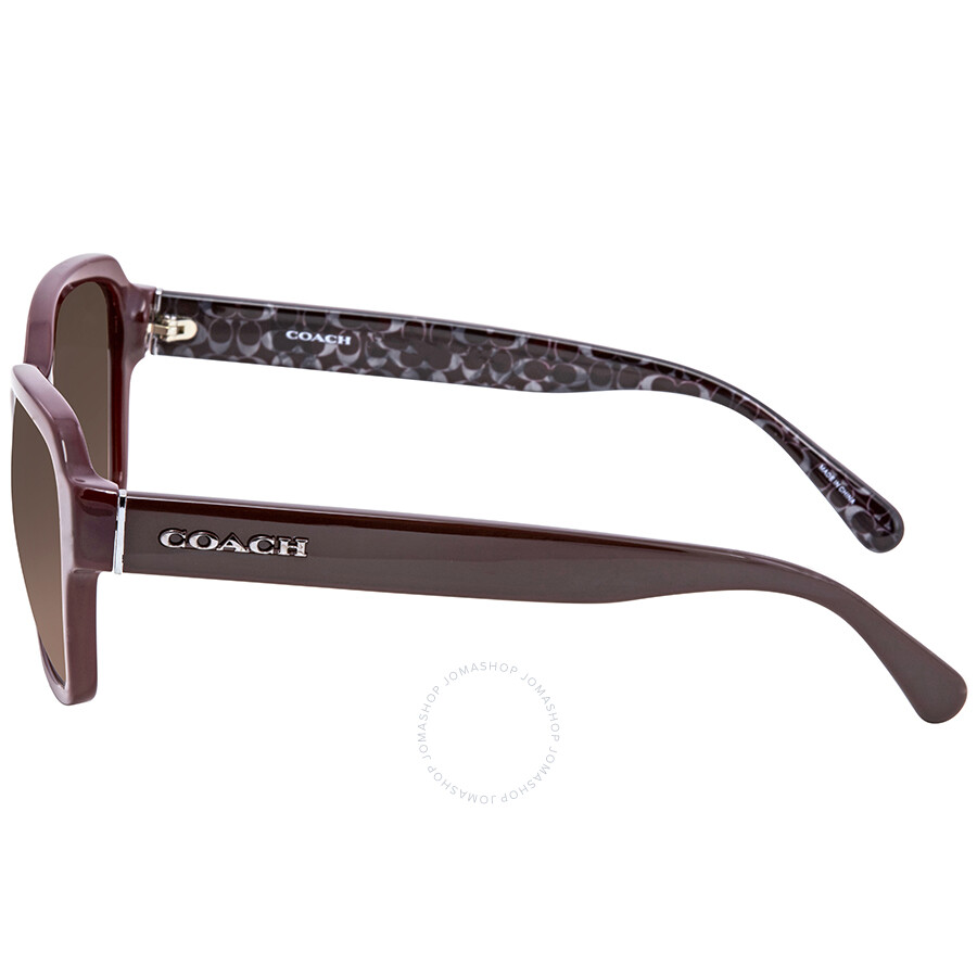 baefefc6bd129 Coach Dark Brown Gradient Rectangular Sunglasses HC8232 550913 56 ...