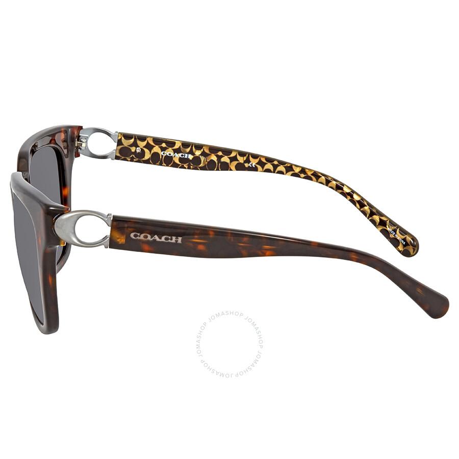 2fa896f0dfa1 Coach Dark Dark Tortoise Square Ladies Sunglasses HC8240 550787 52 ...