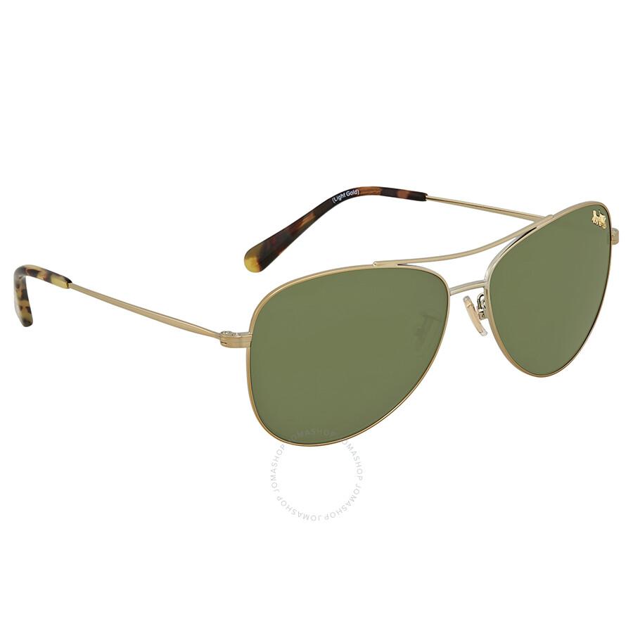 d54b64fbc101f Coach Dark Green Aviator Sunglasses HC7079 932271 58 - Coach ...