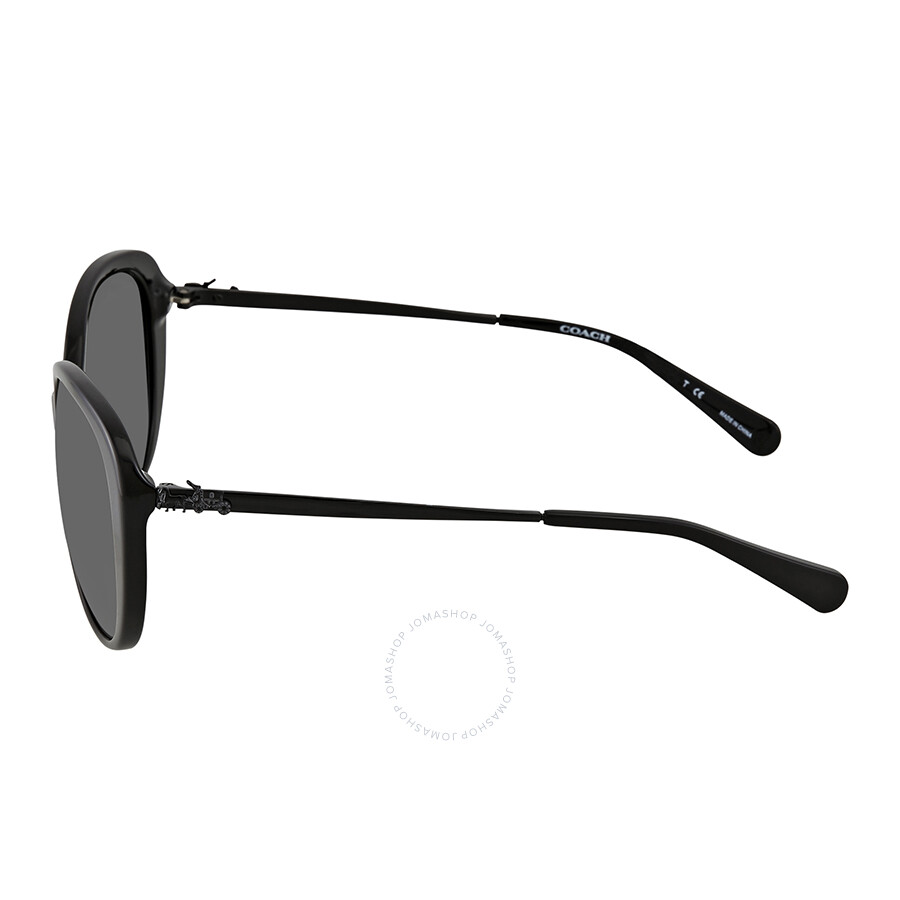d88c569306b Coach Dark Grey Solid Oval Ladies Sunglasses HC8215 548287 57 ...