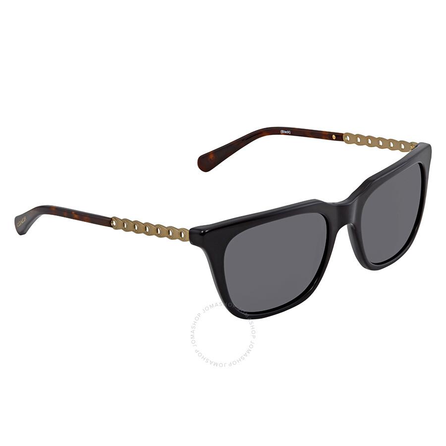 648c2ee0c08e Coach Dark Grey Solid Square Ladies Sunglasses 0HC8236 500287 56 Item No.  HC8236 500287 56