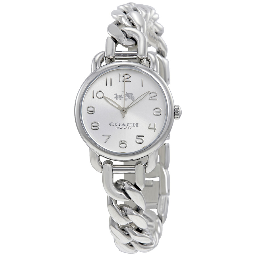 7c7627c29294 Coach Delancey Silver Dial Stainless Steel Bangle Ladies Watch 14502259 ...