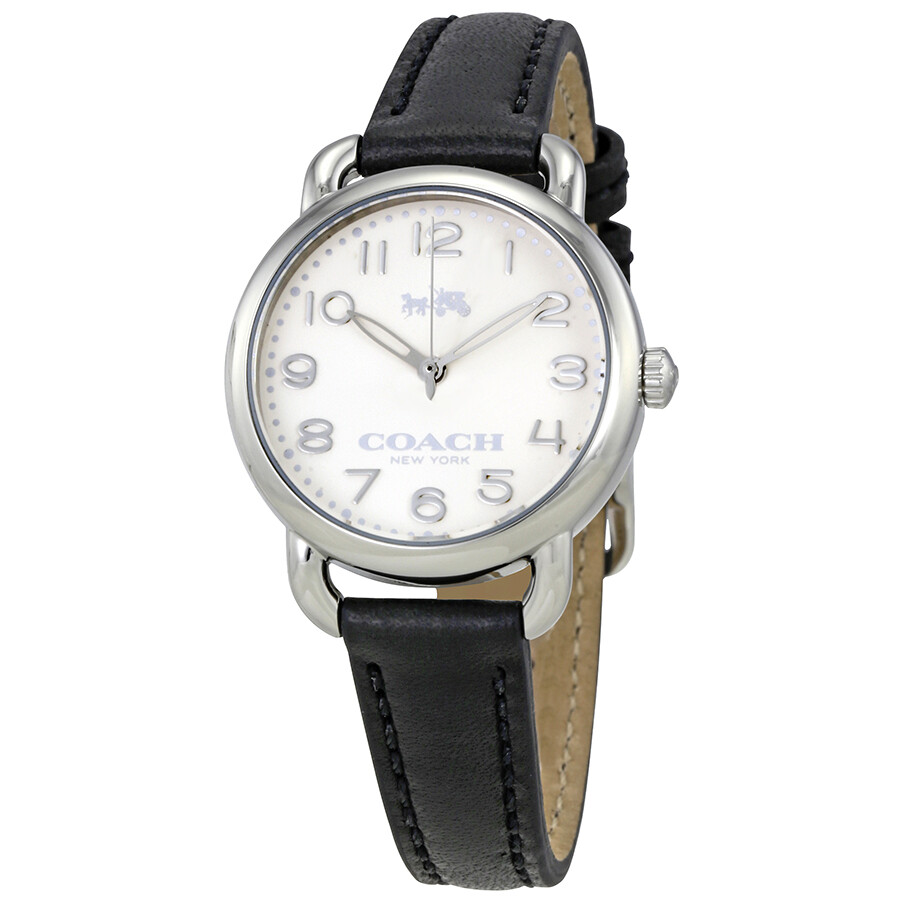 dca1888c7 Coach Delancey White Dial Ladies Leather Watch 14502247 - Coach ...