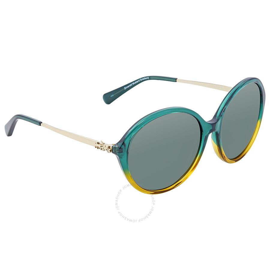 6a664058ba6c ... purchase coach green round sunglasses hc8214 547271 56 ef18c eab9c