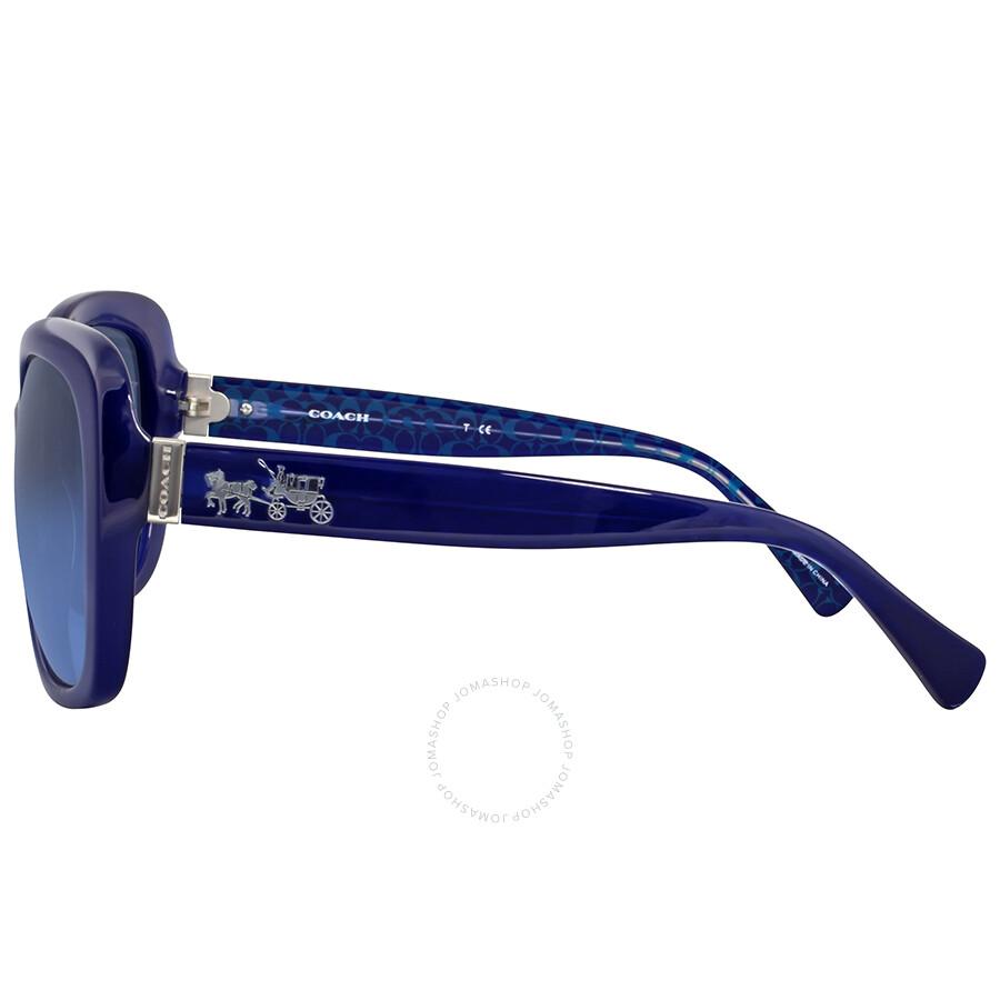 b63f4be16c Coach Grey Blue Gradient Plastic Sunglasses - Coach - Sunglasses ...