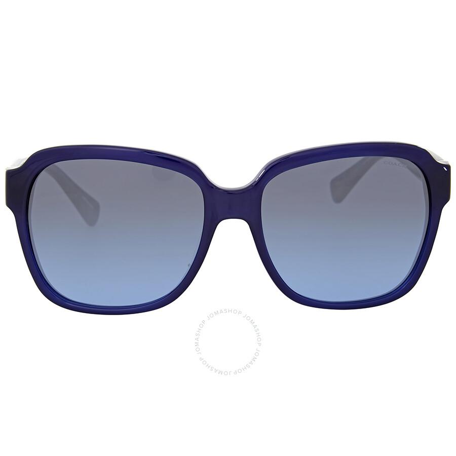 6d81f74579 Coach Grey Blue Gradient Square Saunglasses Item No. HC8185-539717-58