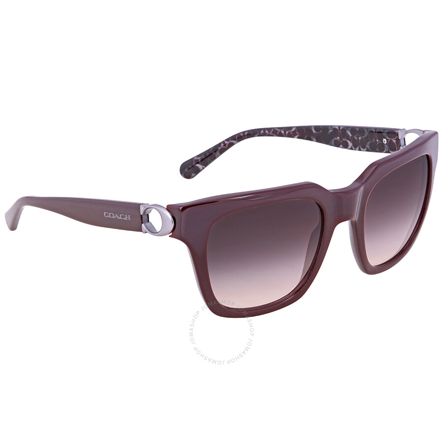 aeb5992e222 Coach Grey Pink Gradient Square Ladies Sunglasses HC8240 55203B 52 ...