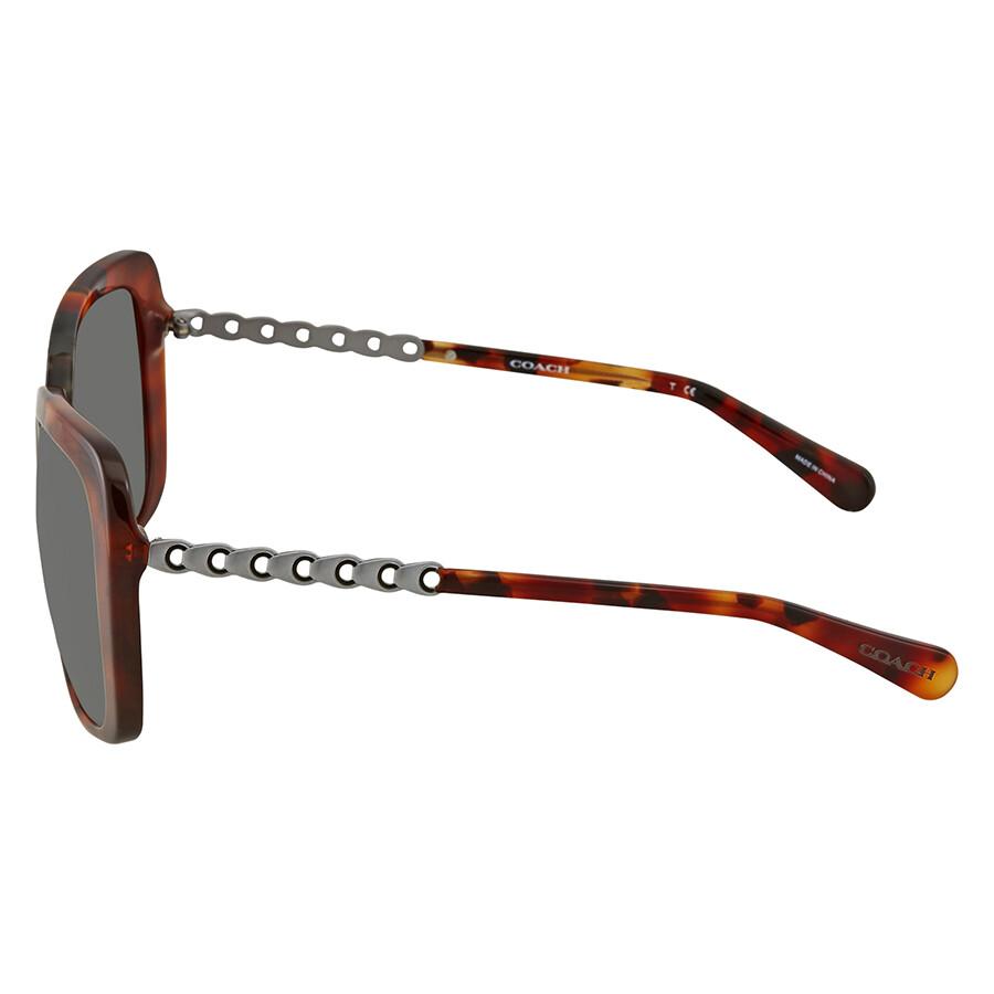7365d214e2a Coach Grey Rectangular Sunglasses HC8237 551987 57 - Coach ...