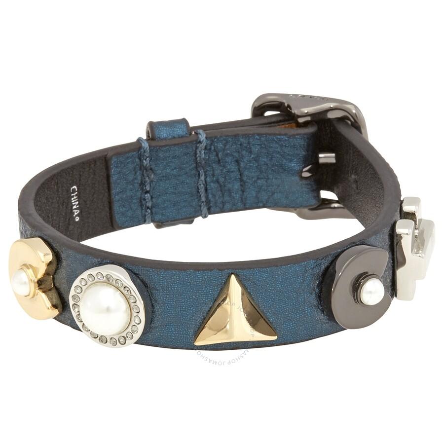 Coach Las Jewelry Bracelets Bangles Blu Mineral Co Deco Leather Br