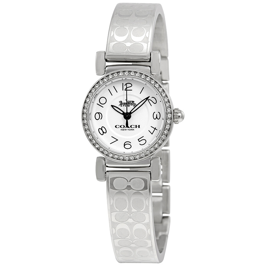 Coach madison silver dial ladies bangle watch 14502870 coach watches jomashop for Ladies bangle watch