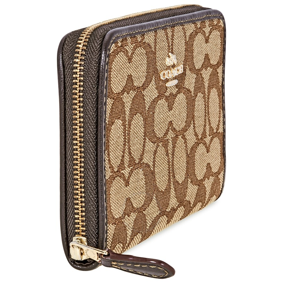 a1708f3268ef6 Coach Medium Signature Canvas Wallet- Khaki Brown - Coach Handbags ...