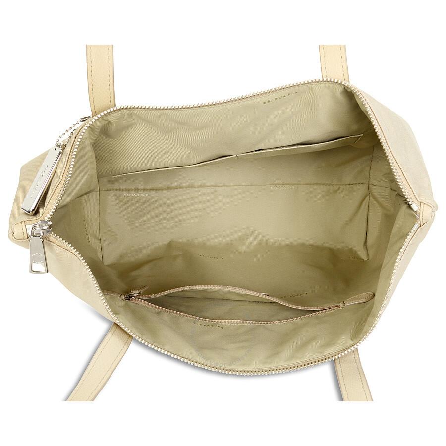 9086cb8096624 Coach Nylon Zip Tote - Silver/Putty - Coach Handbags - Handbags ...