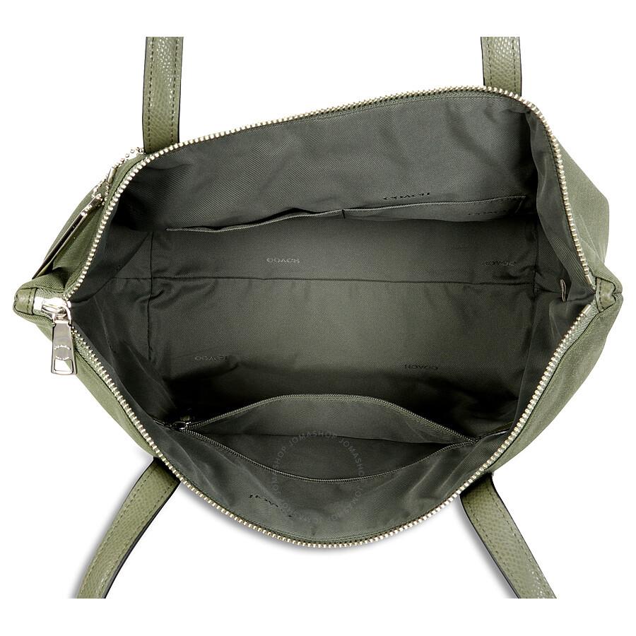 Coach Nylon Zip Tote Silver Surplus Handbags