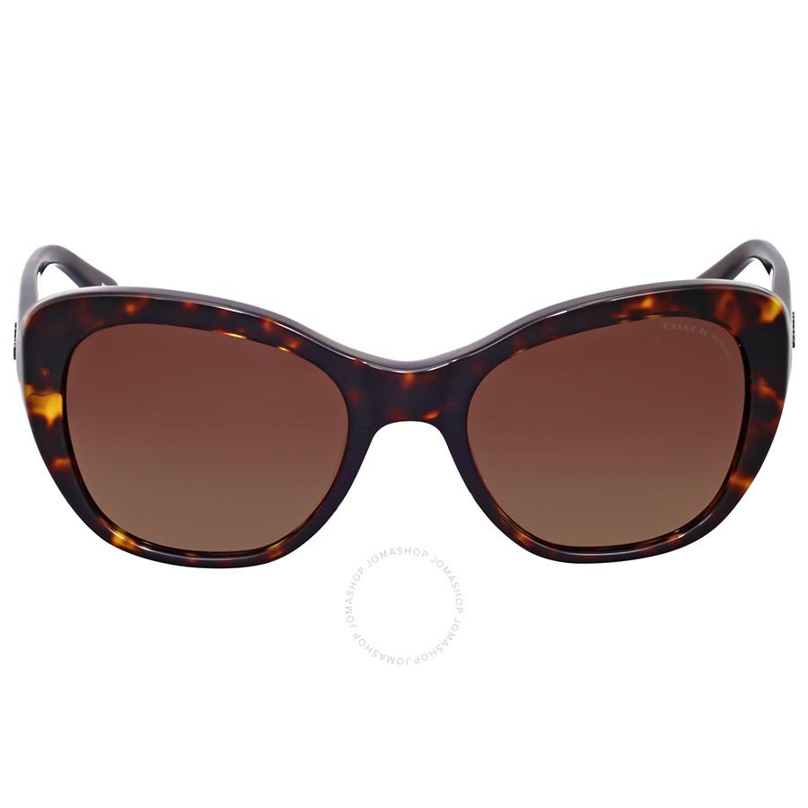 f2aa65d62ec9 Coach Polarized Brown Gradient Cat Eye Sunglasses Item No. HC8204-5120T5-52