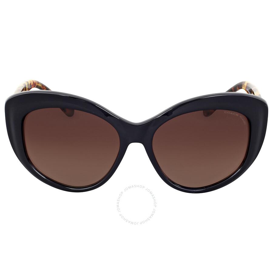 a27c94f0784f Coach Polarized Brown Gradient Cat Eye Sunglasses Item No. HC8206-5449T5-55