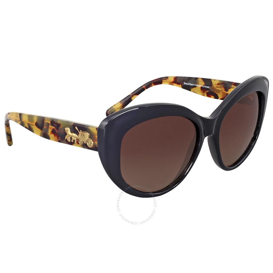 66565296c951 Coach Polarized Brown Gradient Cat Eye Sunglasses Coach Polarized Brown  Gradient Cat Eye Sunglasses ...