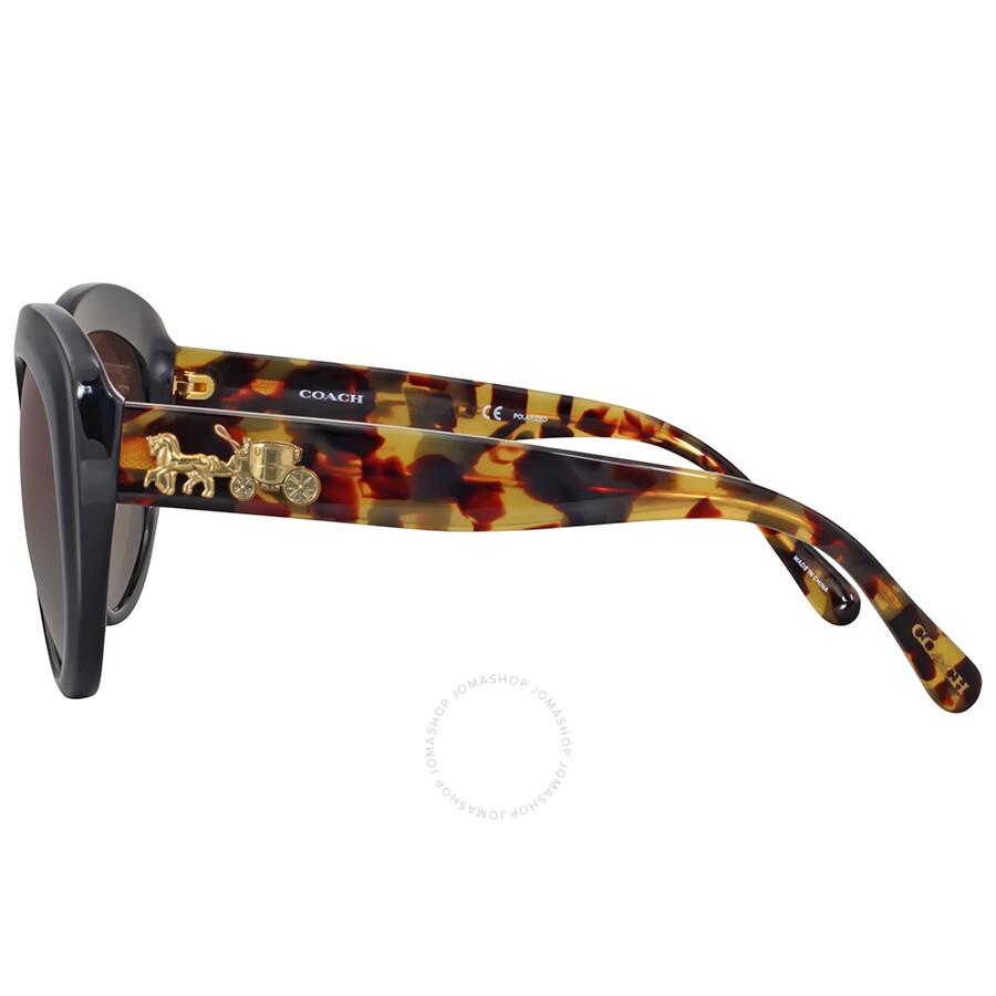 d870ef6c0adb Coach Polarized Brown Gradient Cat Eye Sunglasses - Coach ...