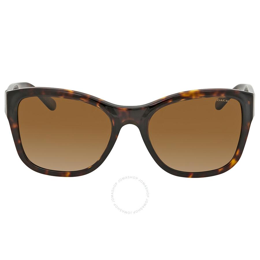 bf1ab83fa ... Coach Polarized Brown Gradient Square Sunglasses HC8243F 5417T5 55 ...