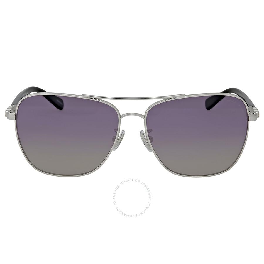 dd7ad529b Coach Polarized Purple Grey Gradient Sunglasses Item No. HC7073B-90158J-59