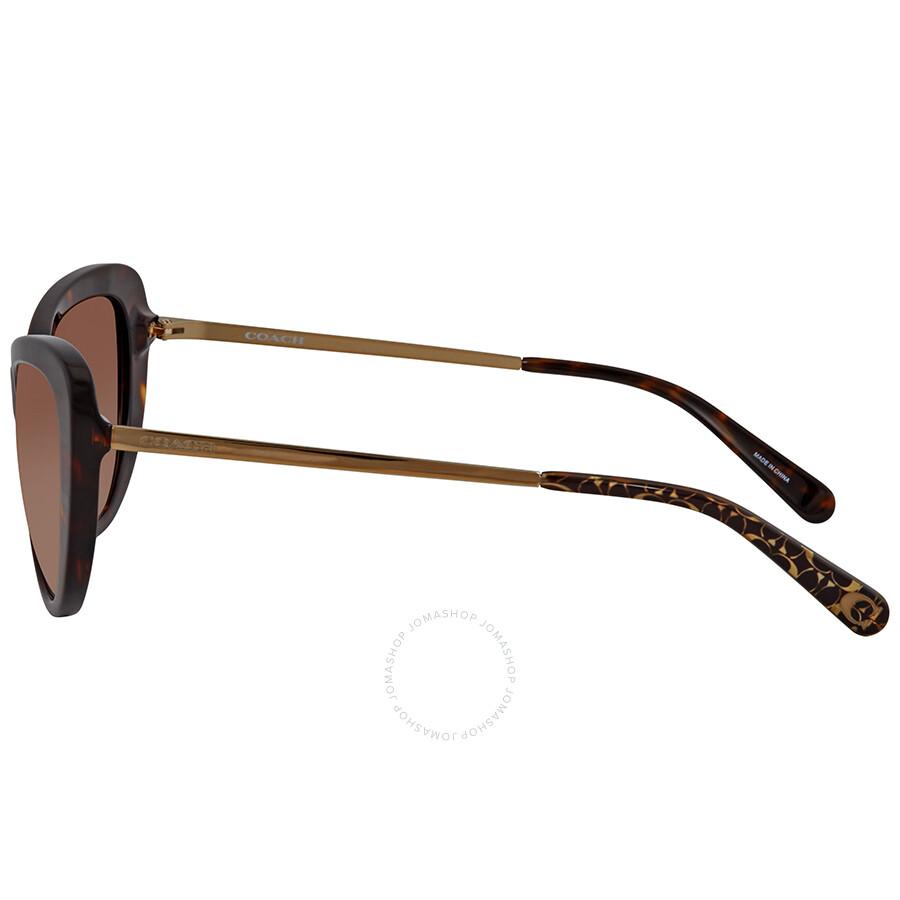 a0836de77f ... Coach Smoke Brown Gradient Cat Eye Ladies Tortoise Sunglasses HC8247  541713 53