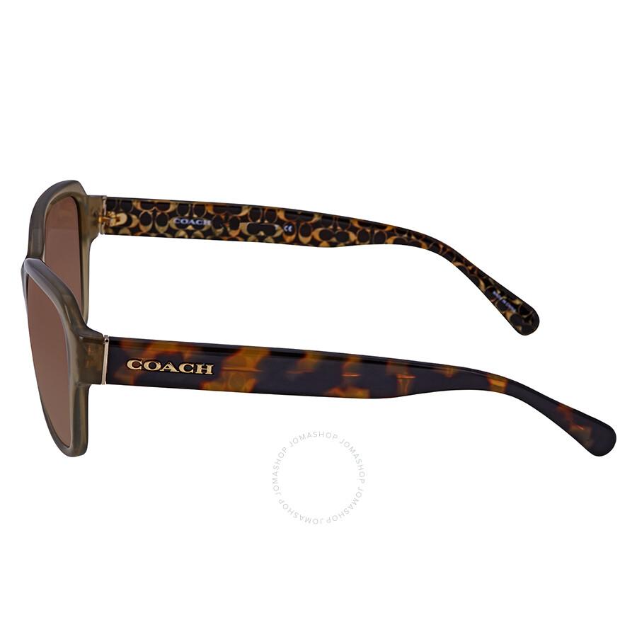 4f60377e45a49 ... italy coach brown gradient rectangular ladies sunglasses hc8232 550813  56 81ac2 4fbf1 ...